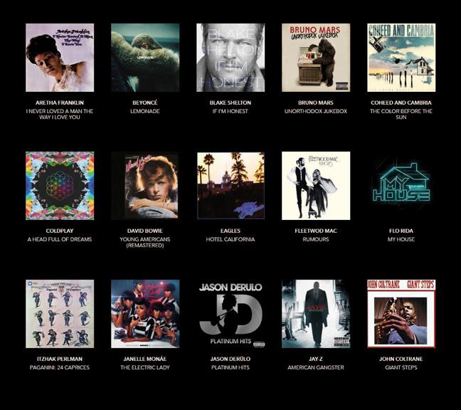 Example MQA Albums