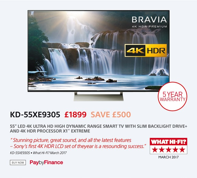 Sony KD-55XE9305 - £1899 - Free UK Delivery - Finance Options Available