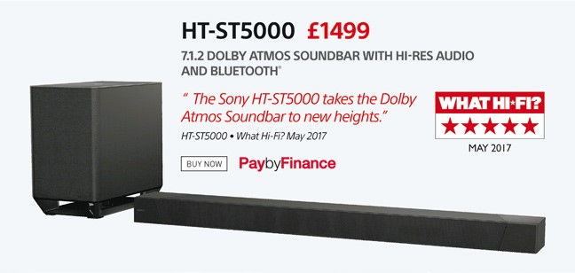 Sony HT-ST5000 - £1499 - Free UK Delivery - Finance Options Available