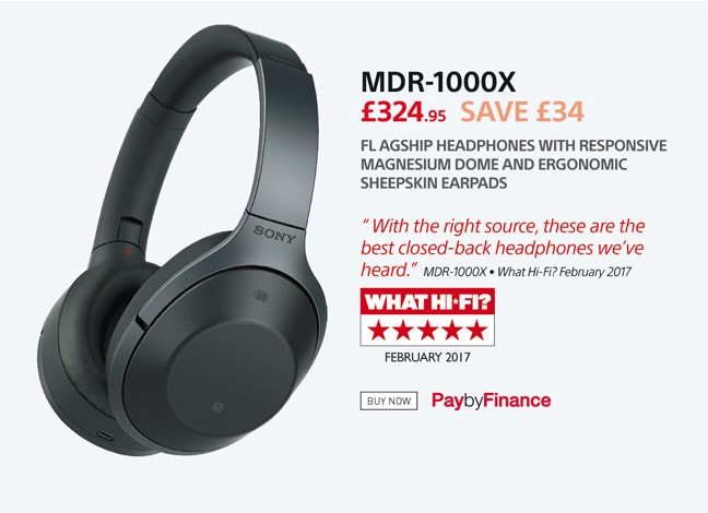Sony MDR-1000X - £324.95 - Free UK Delivery - Finance Options Available