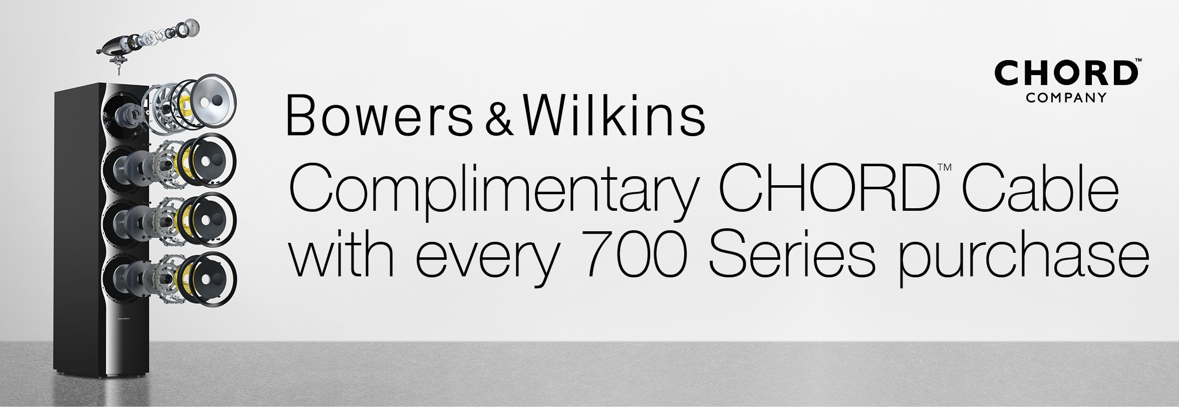 Bowers and wilkins Chord Company Promotion