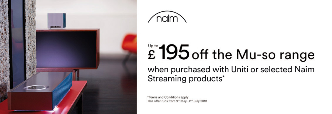 Save up to £195 on a Naim Mu-so Wireless Speaker